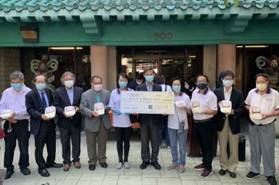 駐洛杉磯處捐款3萬元幫助華埠耆老