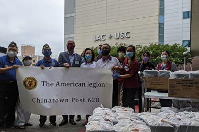 Thanks to the front line medical workers by delivering them with lunch box and fortune cookies