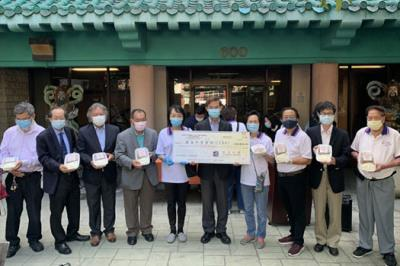 Taipei Economic and Cultural Office in Los Angeles donated $30,000 to assist Chinatown elderly